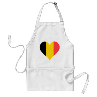 I Love Belgium Heart Standard Apron