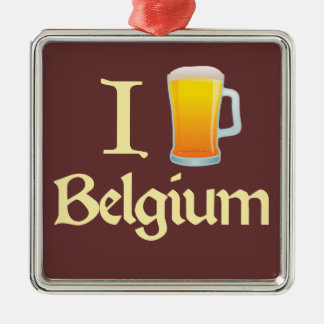 I Love Belgium Metal Ornament