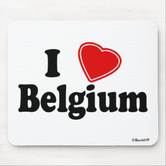 I Love Belgium Mouse Pad