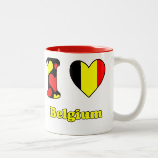 I love Belgium Two-Tone Coffee Mug