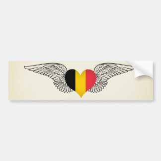 I Love Belgium -wings Bumper Sticker
