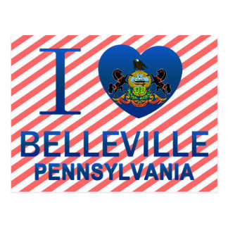 I Love Belleville, PA Postcard