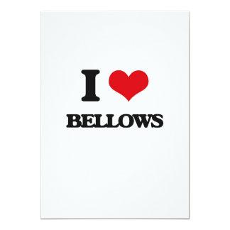 "I Love Bellows 5"" X 7"" Invitation Card"