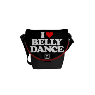 I LOVE BELLY DANCE COMMUTER BAGS