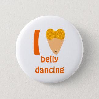 I Love Bellydancing Dancer Torso (I Heart) 6 Cm Round Badge