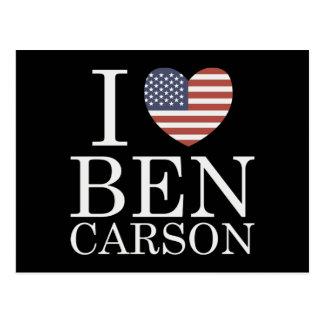 I Love Ben Carson Postcard
