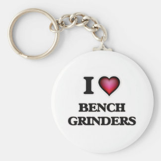 I Love Bench Grinders Key Ring