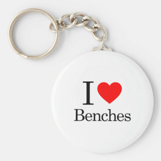 I Love Benches Key Ring