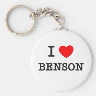 I Love Benson Basic Round Button Key Ring