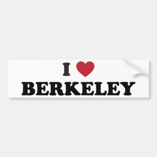 I Love Berkeley California Bumper Sticker