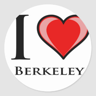 I Love Berkeley Classic Round Sticker