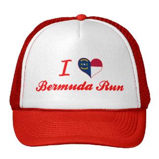 I Love Bermuda Run North Carolina Trucker Hats