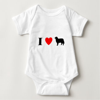 I Love Bernese Mountain Dogs Baby Bodysuit