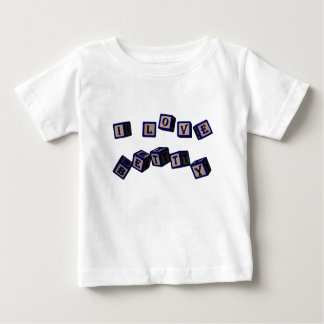 I love Betty toy blocks in blue. Baby T-Shirt