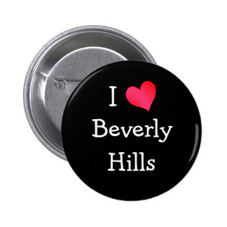 I Love Beverly Hills 6 Cm Round Badge