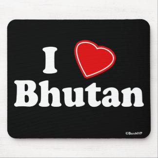 I Love Bhutan Mouse Pads