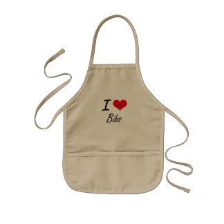 I Love Bibs Artistic Design Kids Apron