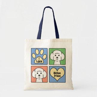 I Love Bichon Frises Canvas Bag