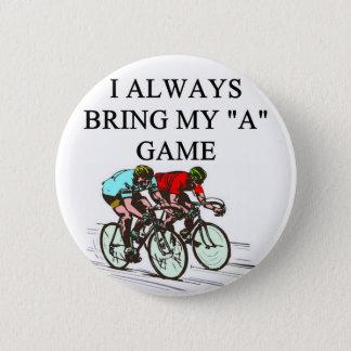 i love bicycle racing 6 cm round badge