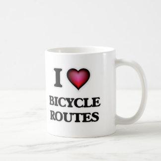 I Love Bicycle Routes Coffee Mug