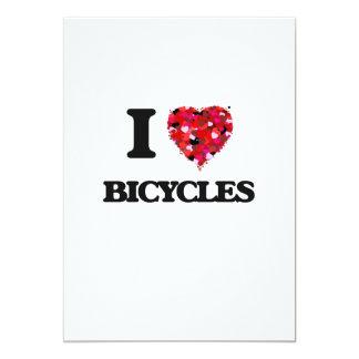 I Love Bicycles 13 Cm X 18 Cm Invitation Card
