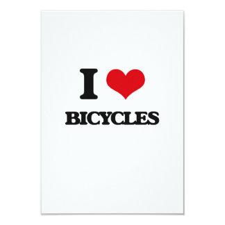 I Love Bicycles 9 Cm X 13 Cm Invitation Card