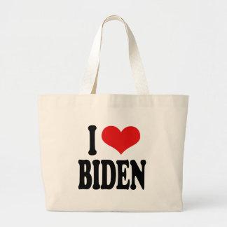 I Love Biden Jumbo Tote Bag