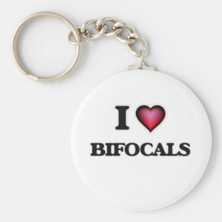 I Love Bifocals Basic Round Button Key Ring