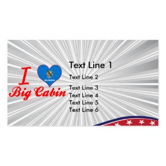 I Love Big Cabin, Oklahoma Business Card
