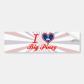 I Love Big Piney, Wyoming Bumper Sticker