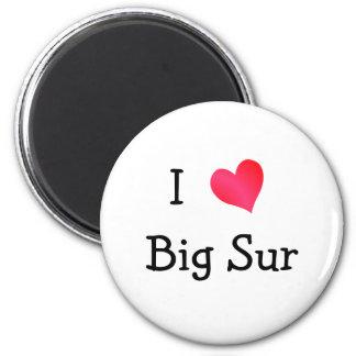 I Love Big Sur 6 Cm Round Magnet