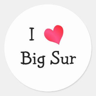I Love Big Sur Round Sticker