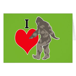 I LOVE BIGFOOT 1 CARD