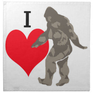 I LOVE BIGFOOT 1 NAPKIN