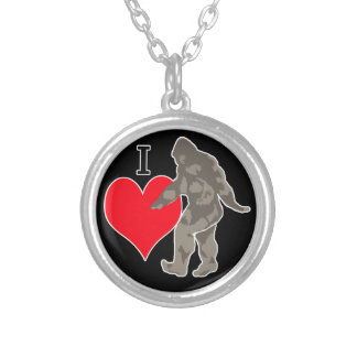 I LOVE BIGFOOT 1 SILVER PLATED NECKLACE