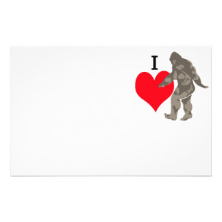 I LOVE BIGFOOT 1 STATIONERY