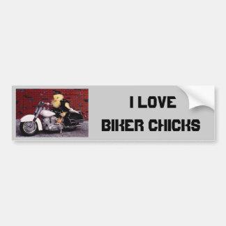 I Love Biker Chicks Bumper Sticker
