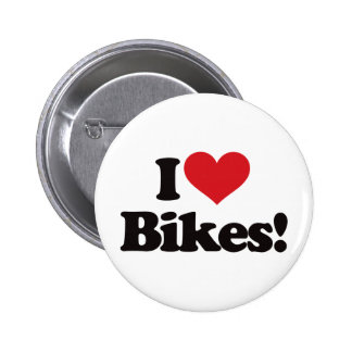 I Love Bikes! Pinback Button