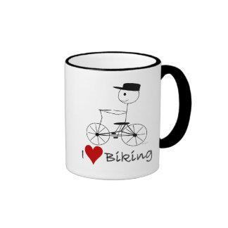 I Love Biking Gifts and Apparel Mugs
