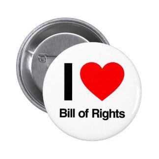 i love bill of rights pins