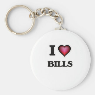 I Love Bills Key Ring