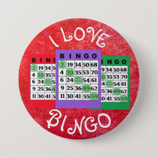 I Love BINGO Cards Button
