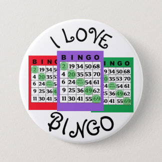 I Love BINGO Cards Button