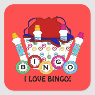 I Love Bingo Gambling sticker