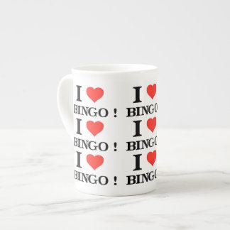 I Love Bingo Tea Cup