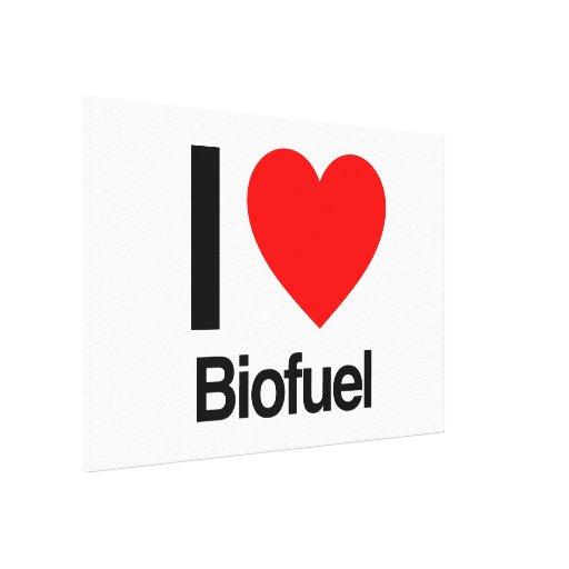 i love biofuel stretched canvas print