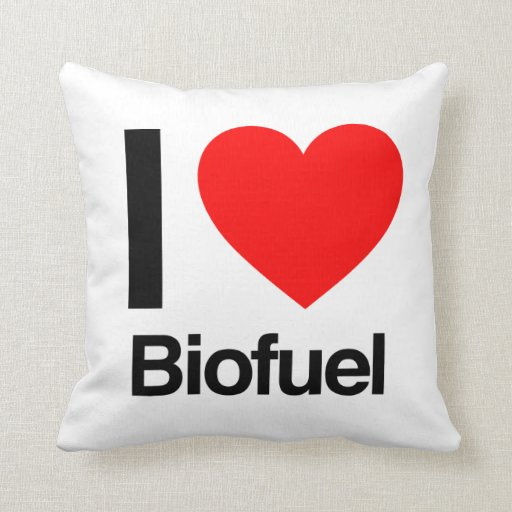 i love biofuel pillow