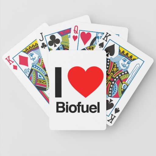 i love biofuel playing cards