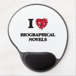 I Love Biographical Novels Gel Mouse Pad