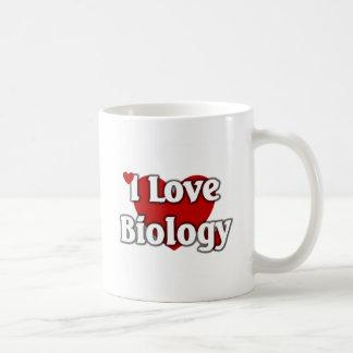 I love Biology Basic White Mug